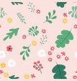 seamless pattern background with simple flower vector image vector image