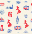 Seamless pattern on theme uk and london