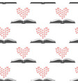 seamless pattern with open romance genre book and vector image vector image