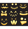 Set of halloween faces vector image vector image