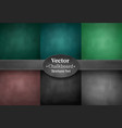 set of school chalkboard backgrounds vector image vector image