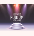 show light podium red vector image