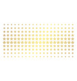 star pentagram golden halftone matrix vector image
