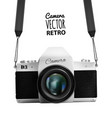 stock vintage camera vector image