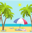 summer time beach sea shore realistic background vector image vector image