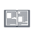 text book open isolated icon design vector image vector image