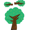 tree and branch parts children vector image vector image