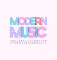 trendy poster modern music creative alphabet vector image