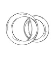 two gold rings vector image vector image