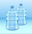 two realistic plastic bottles for office water vector image vector image