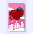 valentines day social media story post photo vector image