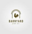 vintage rooster in barn symbol design vector image vector image