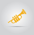 yellow trumpet isolated icon vector image