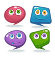 collection of talking speaking and communication vector image