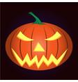 light pumpkin vector image