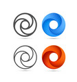 set of abstract infinite loop template vector image