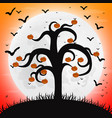 forest at night on halloween vector image