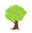A tree growing money in the form of dollar notes vector image