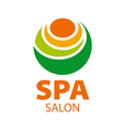 Abstract logo candle for spa salon vector image
