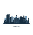 albany skyline monochrome silhouette vector image vector image