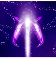 Angel futuristic background vector image