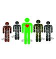 artificial people vector image vector image