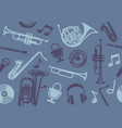 background with wind musical instruments vector image vector image