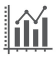 bar graph glyph icon growth and chart vector image vector image