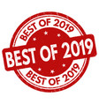 best 2019 sign or stamp vector image vector image