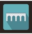 Brick bridge icon flat style vector image vector image