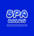 bright banner spa salon stylish alphabet set vector image