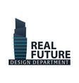 building logo design department modern buildings vector image vector image