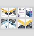 business abstract template brochure design vector image