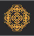 celtic cross ethnic ornament t-shirt print vector image