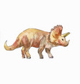 ceratops watercolor vector image vector image