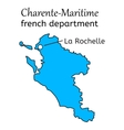 Charente-Maritime french department map vector image vector image