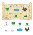 children s playground map vector image vector image
