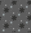 christmas and new year seamless gray pattern vector image vector image