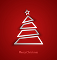 Christmas card with abstract tree template vector image vector image