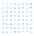 city park icons set the open plot of land for vector image vector image