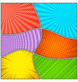 comic colorful frames composition vector image vector image