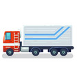 cool semi-trailer sleeper and flat nose trucks vector image