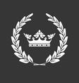 crown and laurel wreath - family blazon vector image vector image