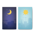 day and night landscape vector image