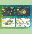 design for credit card with feijoa vector image vector image
