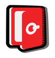 doors exit icon with shadow red symbol sign vector image
