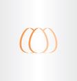 egg icon stylized logo symbol vector image