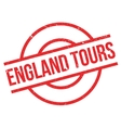 England Tours rubber stamp vector image vector image