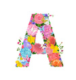 Fashion alphabet from lovely flowers of daffodils vector image vector image