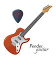 fender guitar electric instrument most iconic in vector image vector image